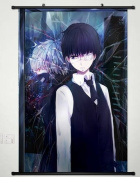 Home Decor Anime Tokyo Ghoul Wall Scroll Poster Fabric Painting Kaneki Ken 163 L