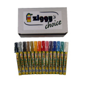 Ziggy's Choice Zig Fabricolor 2mm Tip 14 Colour Marker Set