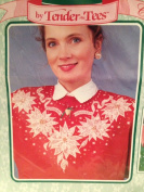 Look of Lace for Christmas Shirt or Sweater Iron-on Transfers - Victorian Poinsettias
