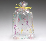 (100) Party Confetti on Clear 28cm Cellophane Bags