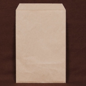 200 pcs Brown Kraft Paper Merchandise Gift Bags Shopping Sales Tote Bags 15cm x 23cm