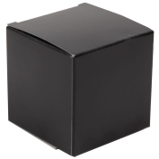 JAM Paper® - 3.5 x 3.5 x 3.5 Black Glossy Gift Boxes - sold in packs of 10