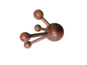 Reflexology Traditional Thai Massage Wooden Stick Tool Back, Foot and Occipital Body Massage Tool Massager Red Wood
