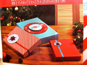 Holiday Time Gift Boxes,3-d Decorations,ribbon,blue,red,red/white Stripe