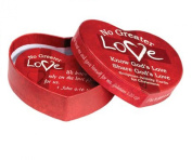 Valentine No Greater Love Heart-shaped Box with 30 Scripture Cards