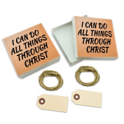 I Can Do All Things Through Christ White Gift Boxes Set of 2
