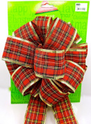Holiday Deluxe Plaid Bow,red Plaid,20cm