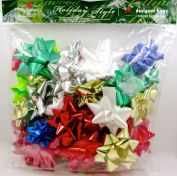 Christmas Designer Gift Bows,50x Assorted,peel & Stick