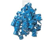 ELECTRIC BLUE High Gloss Curly Bows12 Strands