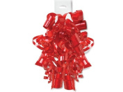 HOT RED High Gloss Curly Bows12 Strands