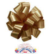 Pom Pom - Pull Out Bows 13cm Gold Pkg/100