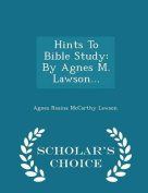 Hints to Bible Study