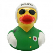 Lilalu 8 x 8 cm/50 g Collector and Baby Motorcycle Police Rubber Duck Bath Toy