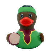 Lilalu 8 x 8 cm/50 g Collector and Baby African Drake Rubber Duck Bath Toy
