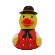 Lilalu 8 x 8 cm/50 g Collector and Baby Black Forest Drake Rubber Duck Bath Toy