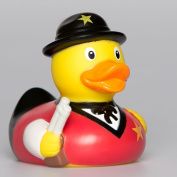 Lilalu 8 x 8 cm/50 g Collector and Baby Sheriff Rubber Duck Bath Toy
