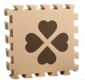 La Vogue Baby Toddler Four-leaved Clover Puzzle EVA Foam Mat