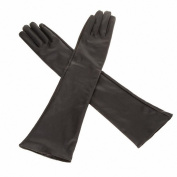 Move & Moving(TM) 1 x Women's/Ladies' Long Soft Artificial Leather Gloves--Black
