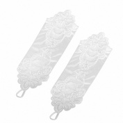 Move & Moving(TM) 1 x Women's Short Lace Decorated Wedding Party Gloves/protect 7057