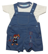 Baby C Kids 2 Piece Dungaree Top Set Age 0-3,3-6,6-9 Months