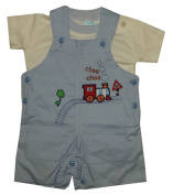 Baby C Kids 2 Piece Dungaree Top Set Age 0-3,3-6,6-9 Months