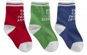 BABYTOWN Babies Boys Cotton Rich Novelty Socks Multi Pack Keep Calm Printed