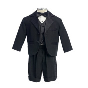 Modern Black Tuxedo for Baby Boys-Black/White-XL Colour