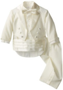 Joey Couture Baby-Boys Infant Tuxedo Suit Tail, Ivory, 12 Months/Medium Colour