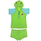 BAO CORE Unisex Kids Comfy Two-piece Bathing Swimming Suits With Cap for Toddler Children Baby Girls Boys Age 1-6 Years