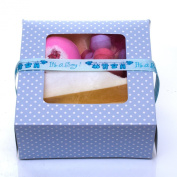 Bath Bomb Gift Set- Mini Pamper Hamper with Its a Boy Decoration -Lovely Baby Shower Gift