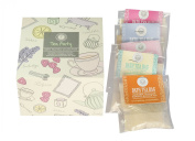Tea Party Bath Set of 5 Tea Bag Collection