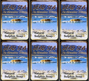 Malki Dead Sea Sulphur Soap 90g x 6 Packs