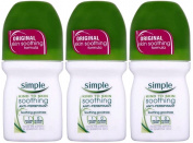Simple Kind To Skin Soothing Anti Perspirant Roll On 50ml x 3 Packs