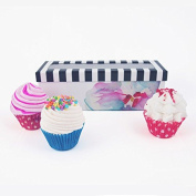 MISS PATISSERIE CUPCAKE BATH BOMB & BODY SCRUB IN ONE FRUITY COLLECTION GIFT SET - GIFT BOXED