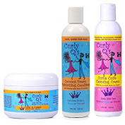 Curly Q's Cleansing Cream & Coconut Dream Conditioner & Custard Set of 3 Products