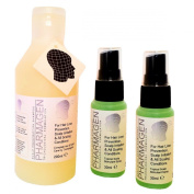 Hair Loss Treatment Set (3 items). Pharmagen Helps Reduce Mens and Womens Generic Hair Loss. Specialist Trichological Scalp Stimulant Formula. Stop Irritation, Dandruff Scaling Conditions. Effective Ultra Gentle 200ml Shampoo and 2 x 30ml Scalp Spray
