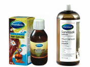 Mecitefendi Garlic Shampoo 400ml and Natural Hair Care Oil 100 ml. Prevents Hair Loss. Unisex