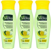 THREE PACKS of Dabur Vatika Lemon Anti Dandruff Shampoo 200ml