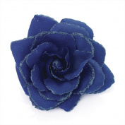 Royal Blue Rose Bobble Christmas Hair Elastic Fascinator Flower Ladies Girls