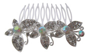 Hair Accessories Silver Crystal and AB Crystal Butterfly Hair Comb