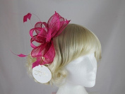 Hawkins Collection Sinamay Loops and Leaves Fascinator