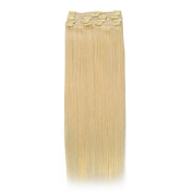 100% Real Human Hair Full Head Clip in Remy Hair Extensions