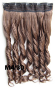 Meiya 60cm 130g Mix Colour Ladies New Fashion Long Wavy Synthetic Full Head Clip in on Hair Extension Hair Piece for Cosplay or Christmas