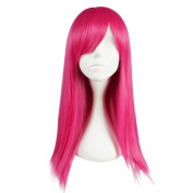 55cm Long Vogue 15 Colours Straight Style Women Anime Synthetic Cosplay Hair Wig+Wig Cap