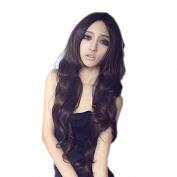 Tenflyer Han Edition Wig Curly Hair Fleeciness Neat Bang Wig Air Girl Long Hair Wigs