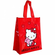HELLO KITTY Girls Plastic Decorated Shopping Bag 25 x 30 x 12 cm