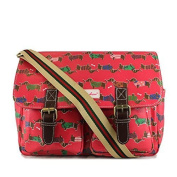 Ladies Dachshund Sausage Dog Satchel , Girls Rose Pink Oilcloth Style Shoulder Bag