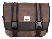 PH-1443 Brown Jeep Laptop Messenger Unisex School Shoulder Bag