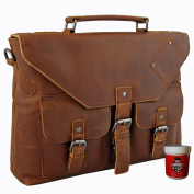 BARON of MALTZAHN Men's top handle bag - Briefcase VERRAZANO brown genuine leather