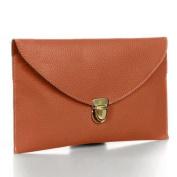 Ardisle Ladies Large Leather Style Envelope Evening Clutch Bag Women Wedding Purse Chain